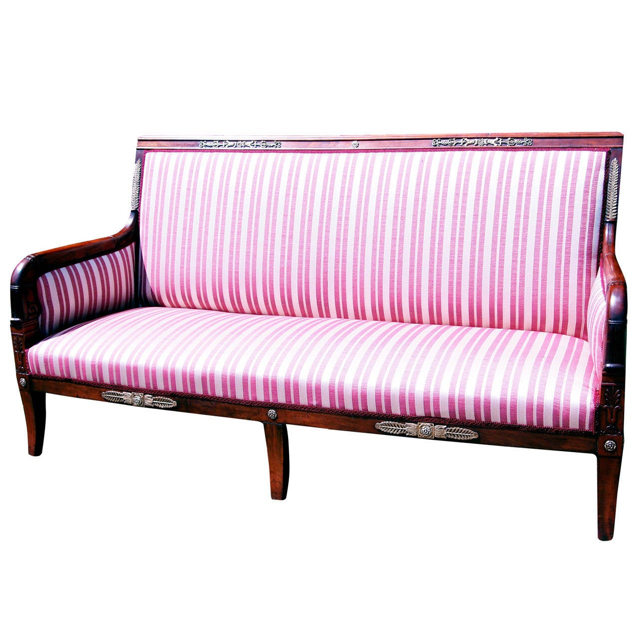 Antique regency mahogany french empire settee for sale at for Settees for sale