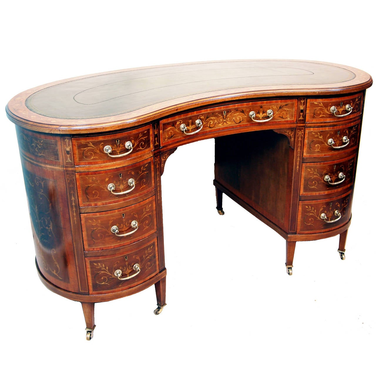 Antique Mahogany Kidney Shaped Desk For Sale - Antique Mahogany Kidney Shaped Desk At 1stdibs