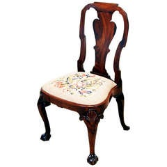 Antique Early Georgian Mahogany Side Chair