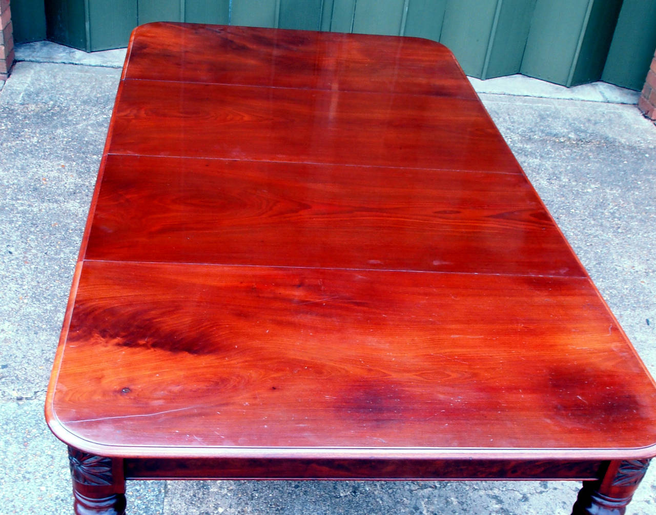 19th Century Regency English Mahogany Antique Extending Dining Table For Sale
