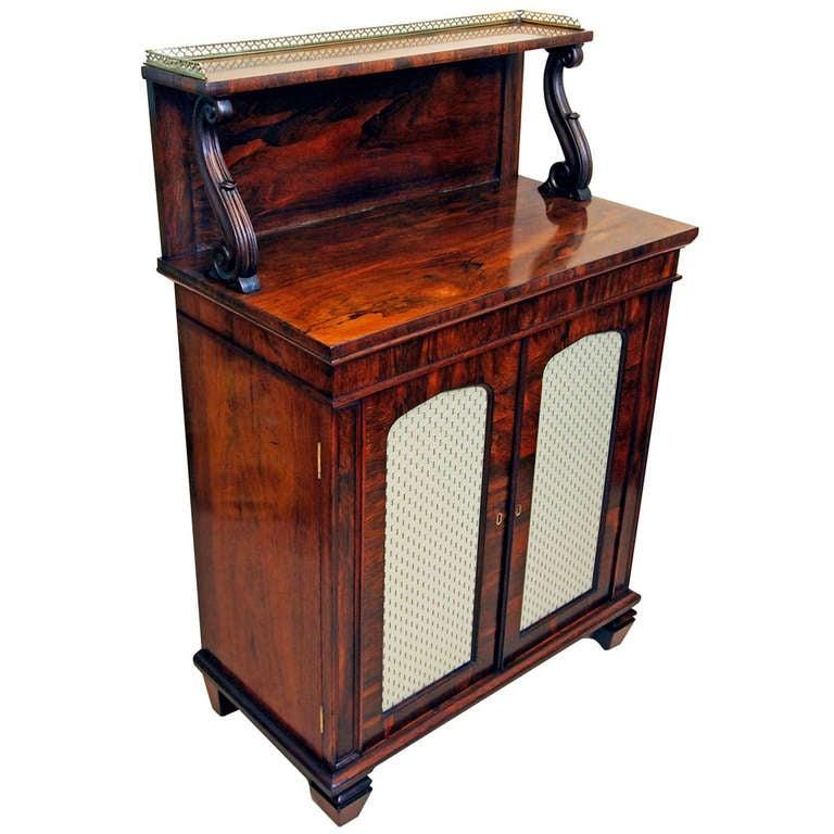 Antique Regency Rosewood Chiffonier