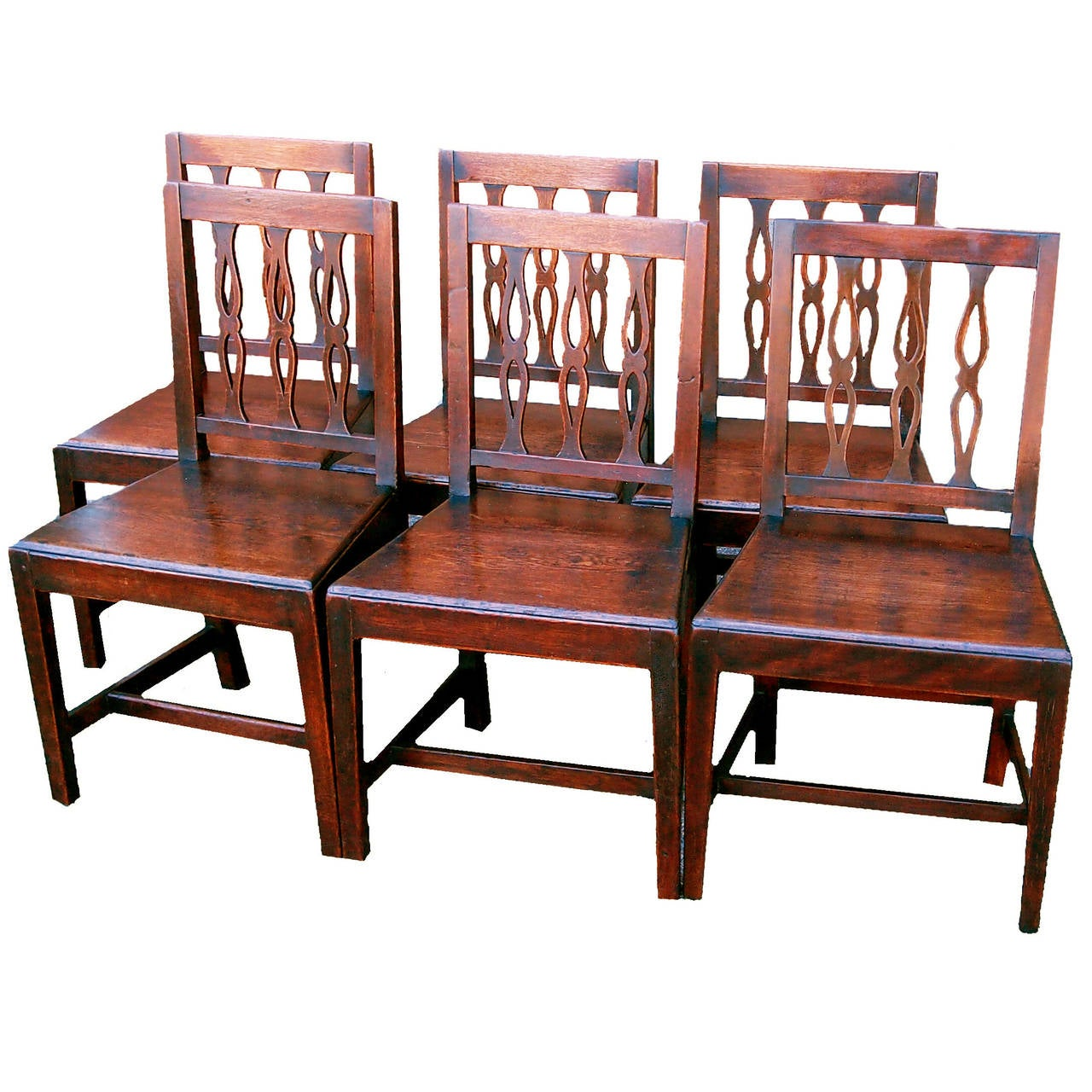 antique set of six oak dining chairs for sale at 1stdibs