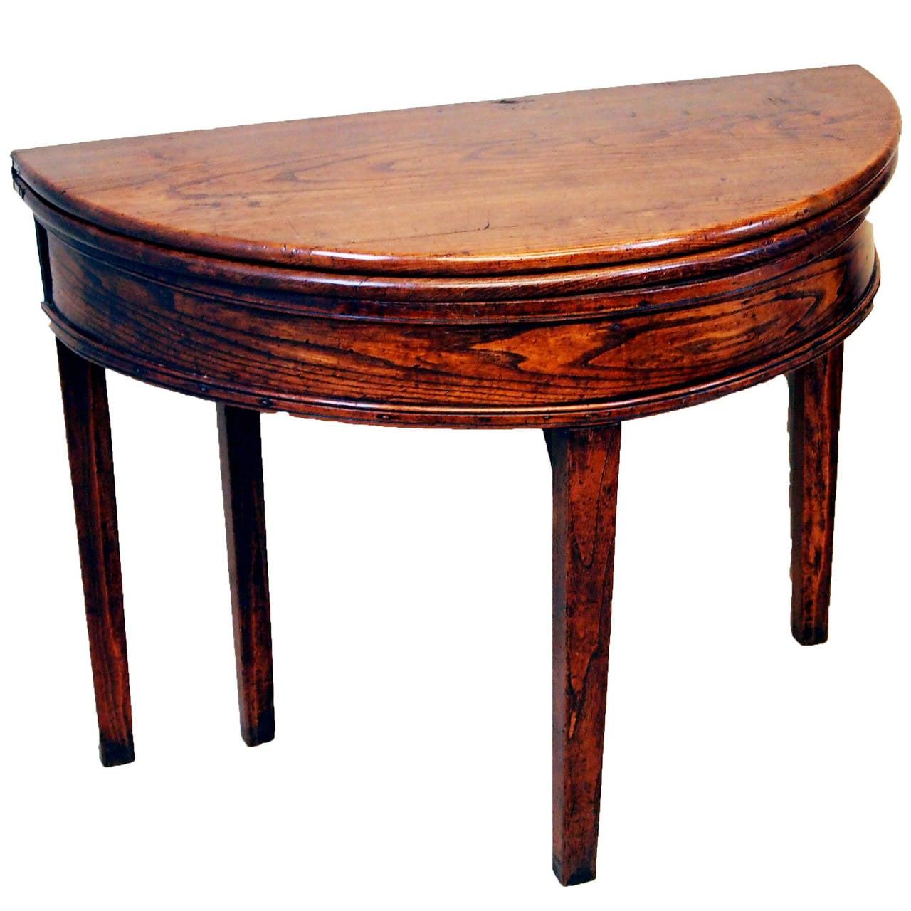 Antique 18th Century Elm Tea Table