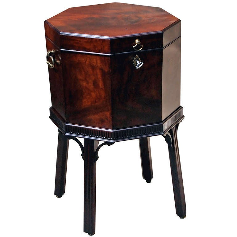 Antique Mahogany Octagonal Wine Cooler at 1stdibs