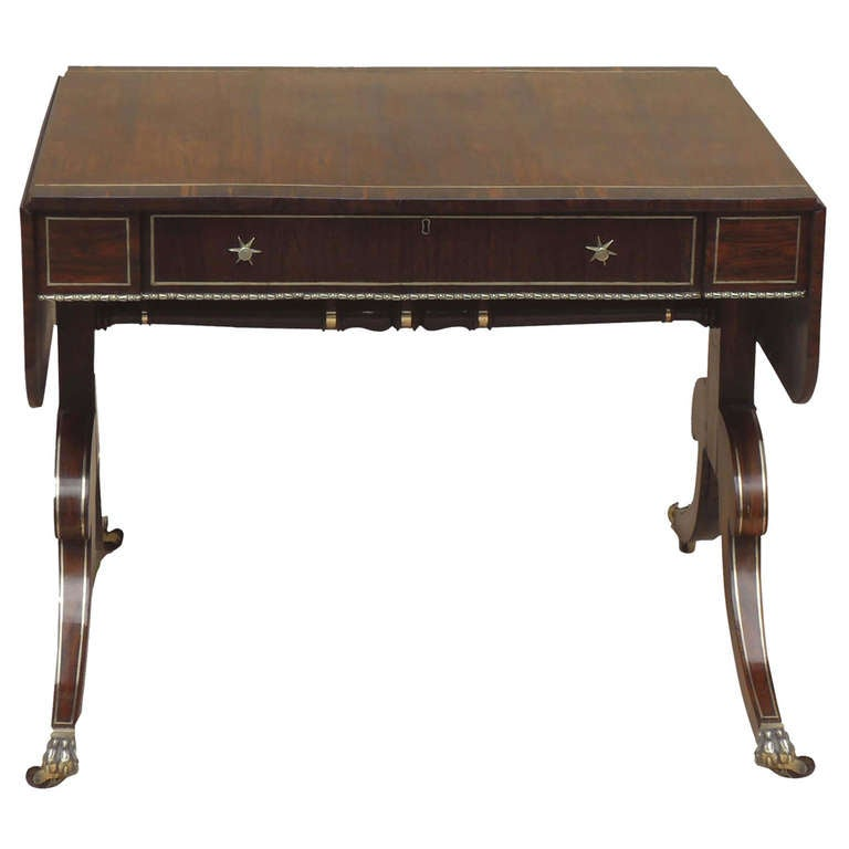Regency antique rosewood sofa table for sale at 1stdibs - Archives departementales 33 tables decennales ...