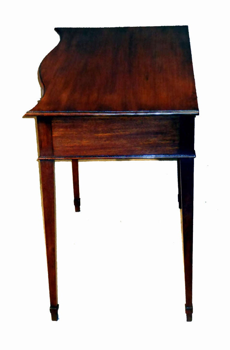 Antique mahogany serpentine side table for sale at 1stdibs - Archives departementales 33 tables decennales ...