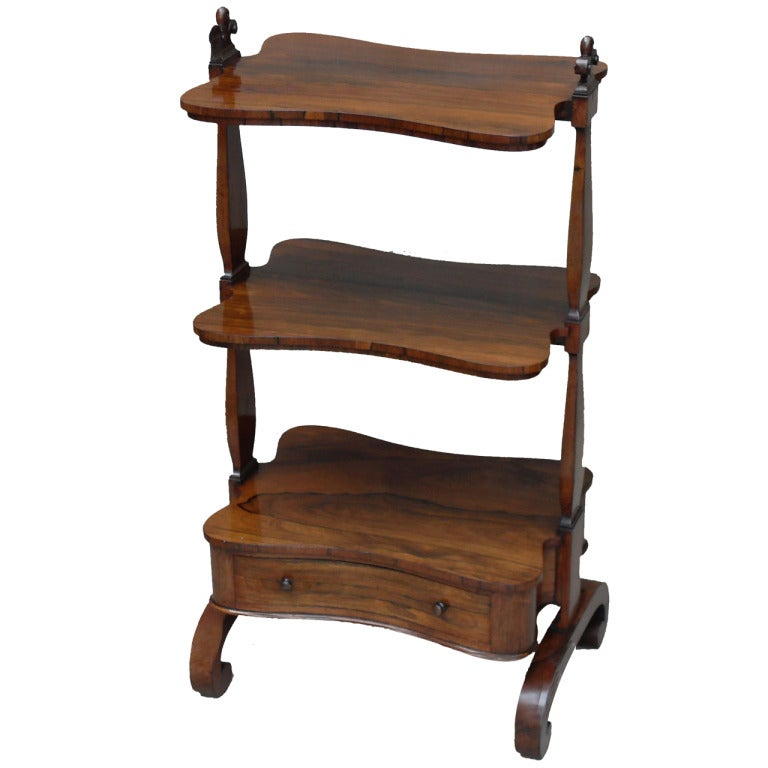 Antique Regency Rosewood Whatnot For Sale