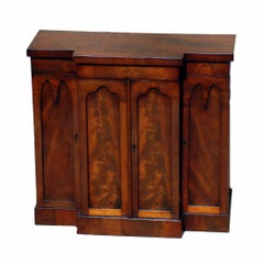 Mid 19th Century English Miniature Mahogany Antique Table Cabinet