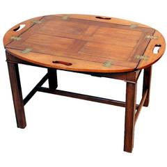 Antique Georgian Mahogany Oval Butlers Tray