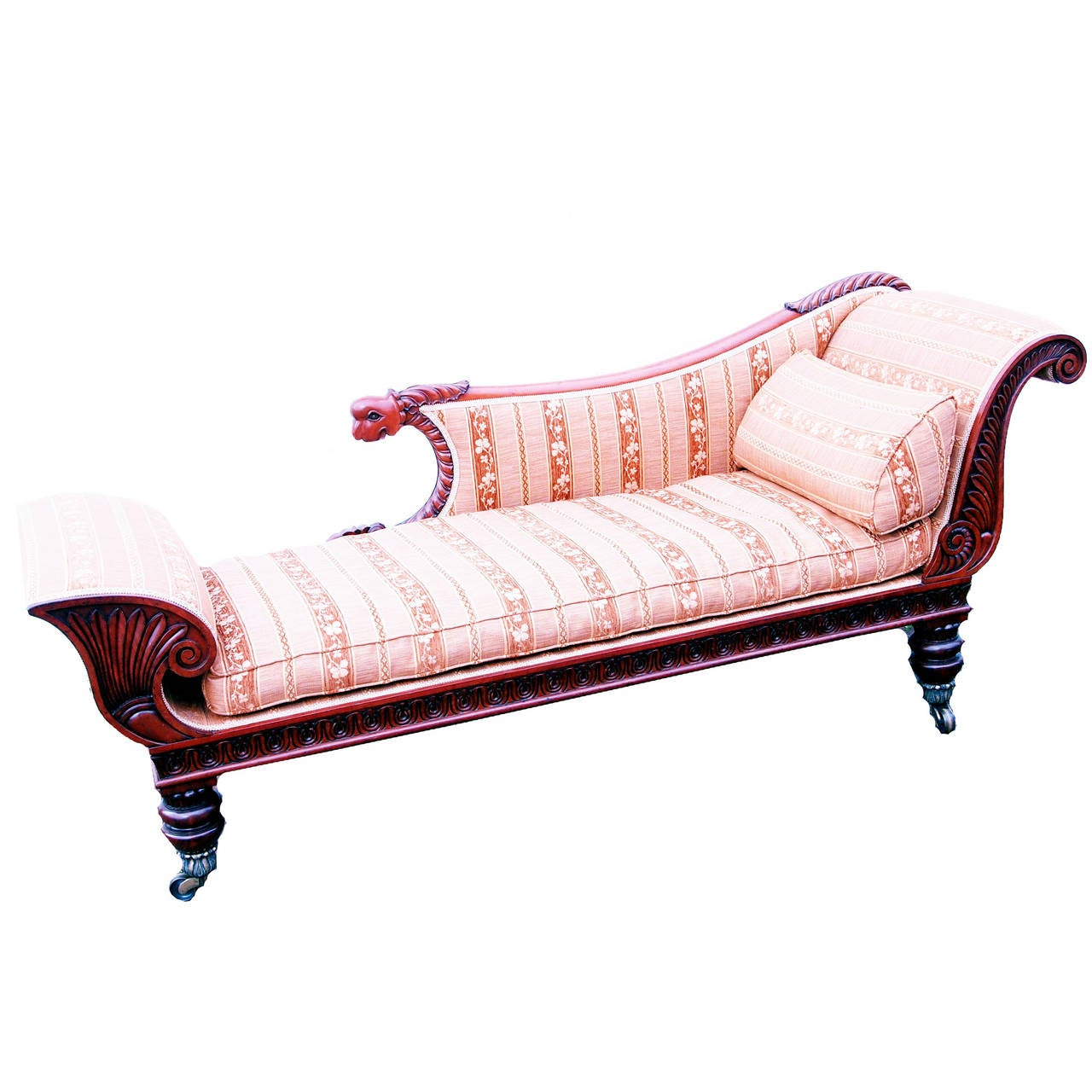 Antique regency period mahogany chaise longue at 1stdibs for Antique chaise longue