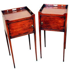 Antique 18th Century Mahogany Pair of Bedside Tables