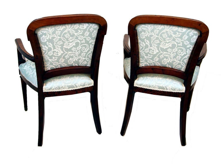 Antique Continental Mahogany And Ash Library Armchairs For Sale At 1stdibs