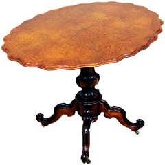 Antique 19th Century French Walnut Tripod Table