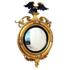 Antique Regency Gilt Convex Mirror