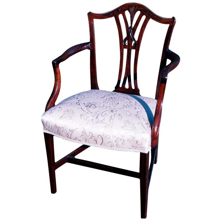 18th Century Georgian Mahogany Masters Armchair