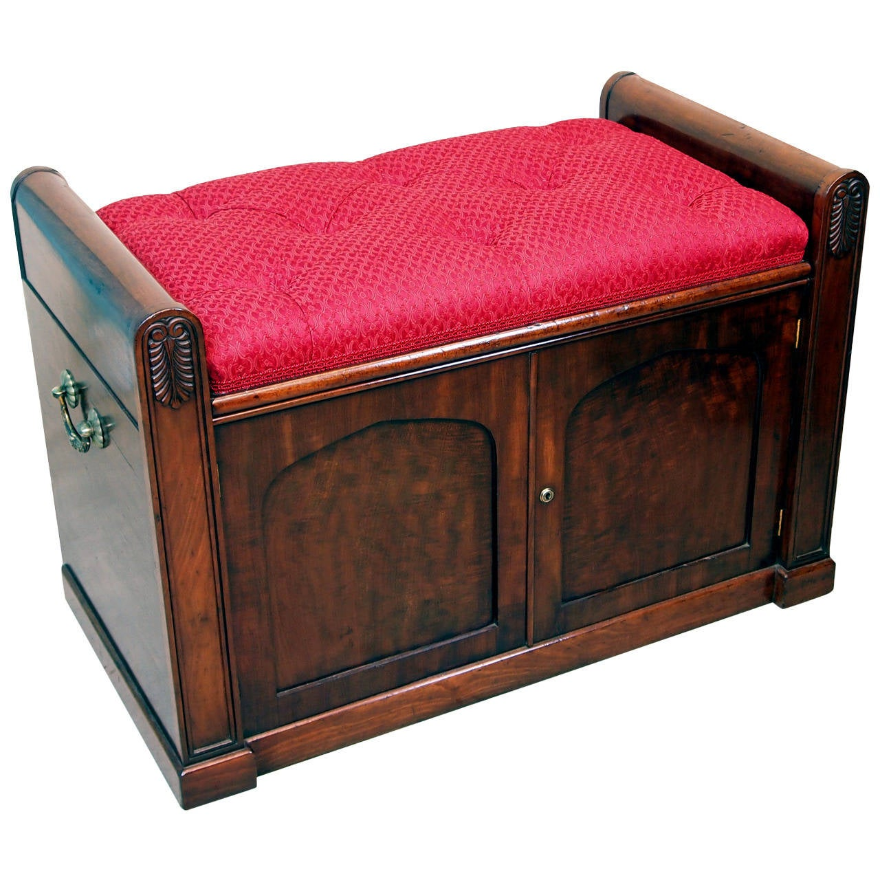 Antique Regency Mahogany Window Seat Bench At 1stdibs