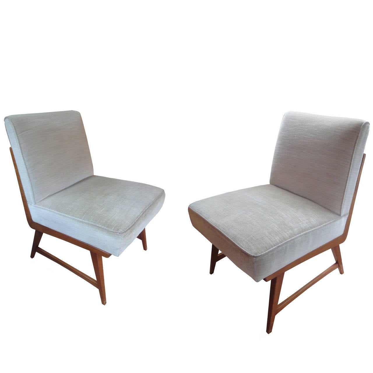 Pair of low chairs at 1stdibs