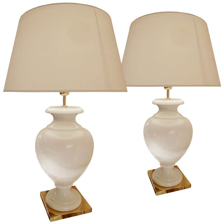 this pair of porcelain table lamps is no longer available. Black Bedroom Furniture Sets. Home Design Ideas