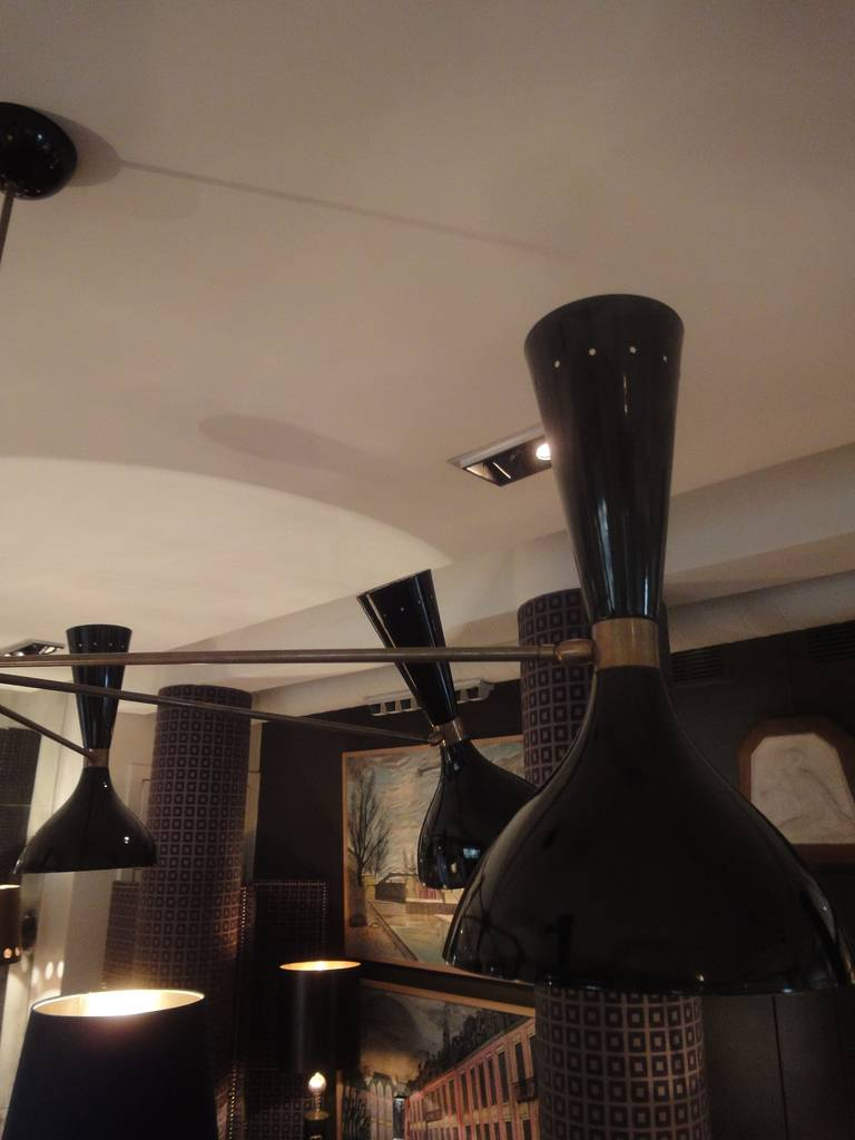 Ceiling Lamp Attributed To Stilnovo At 1stdibs