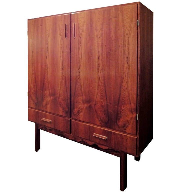 Danish Rosewood Dry Bar Cabinet At 1stdibs