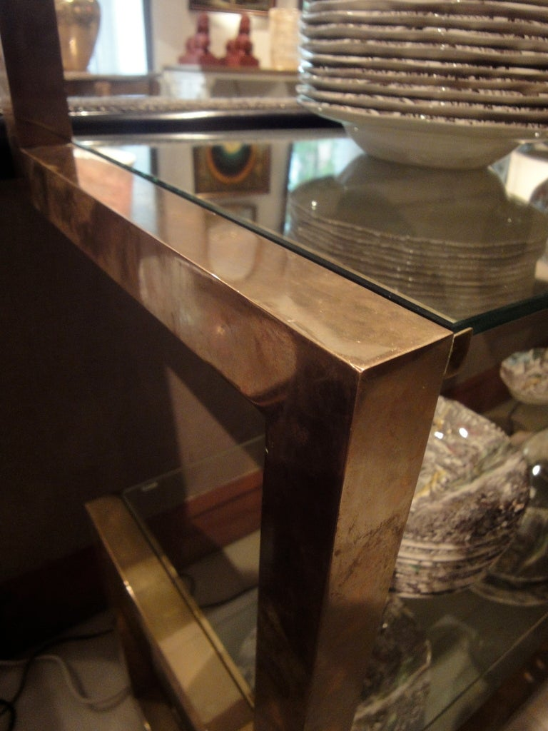 A brass shelve by Milo Baughman 3