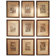 A Collection Of Nine Carnicero's Etchings