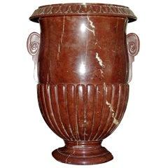 "A large ""griotte"" marble vase"