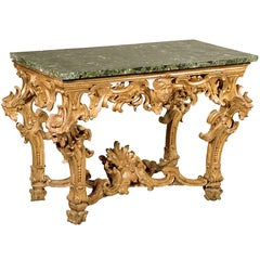 A Roman Carved  Gilt Wood Console, Circa 1720