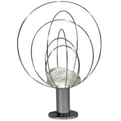 Fantastic Cubic Chrome Sculpture Lamp By Gaetano Scolari