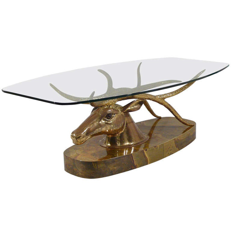 Very Rare Jacques Duval Brasseur Deer Coffee Table At 1stdibs