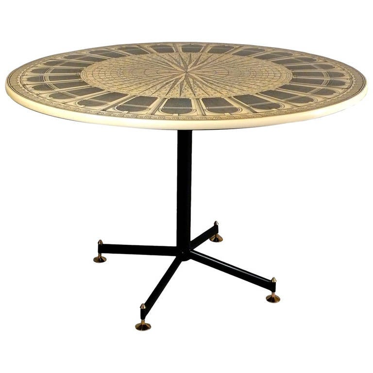Piero Fornasetti Centre Table at 1stdibs
