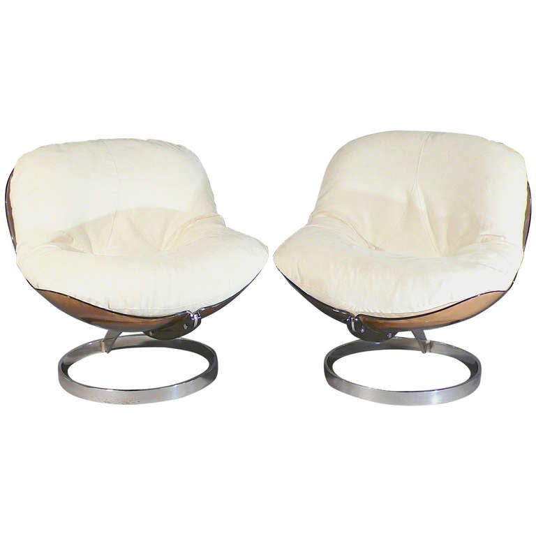 Pair of Sphere Chairs by Boris Tabacoff at 1stdibs