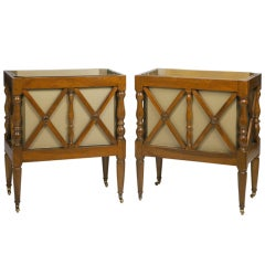 Unusual Pair of Antique French Walnut Planters, 19th Century