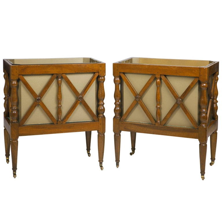 Unusual Planters For Sale Part - 41: Unusual Pair Of Antique French Walnut Planters, 19th Century 1
