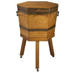 Antique Mahogany Wine Cooler on Stand, England, circa 1800