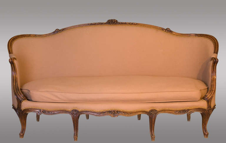a pair of louis xv style canap s french 19th century for sale at 1stdibs. Black Bedroom Furniture Sets. Home Design Ideas