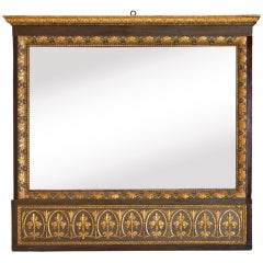 Italian Neoclassical Carved  Trumeau Mirror