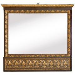 Italian Neoclassical Carved Trumeau Mirror
