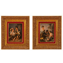 A set of fourteen paintings of the Stations of the Cross