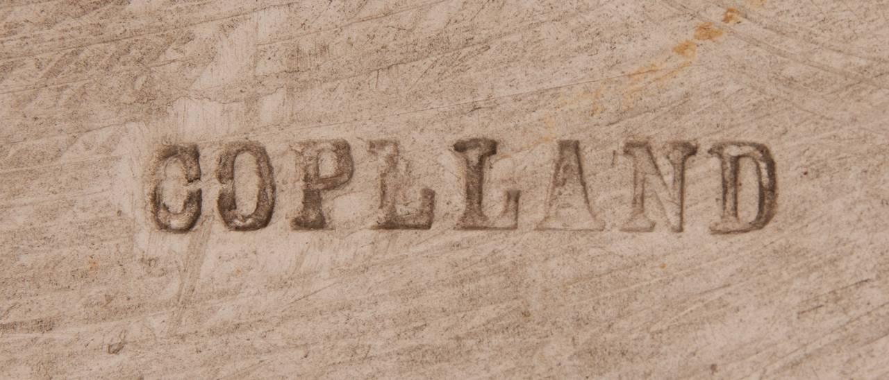 Rectangular Copeland Porcelain Plaque by Lucien