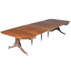 Regency antique mahogany extending dining-table by Edwards