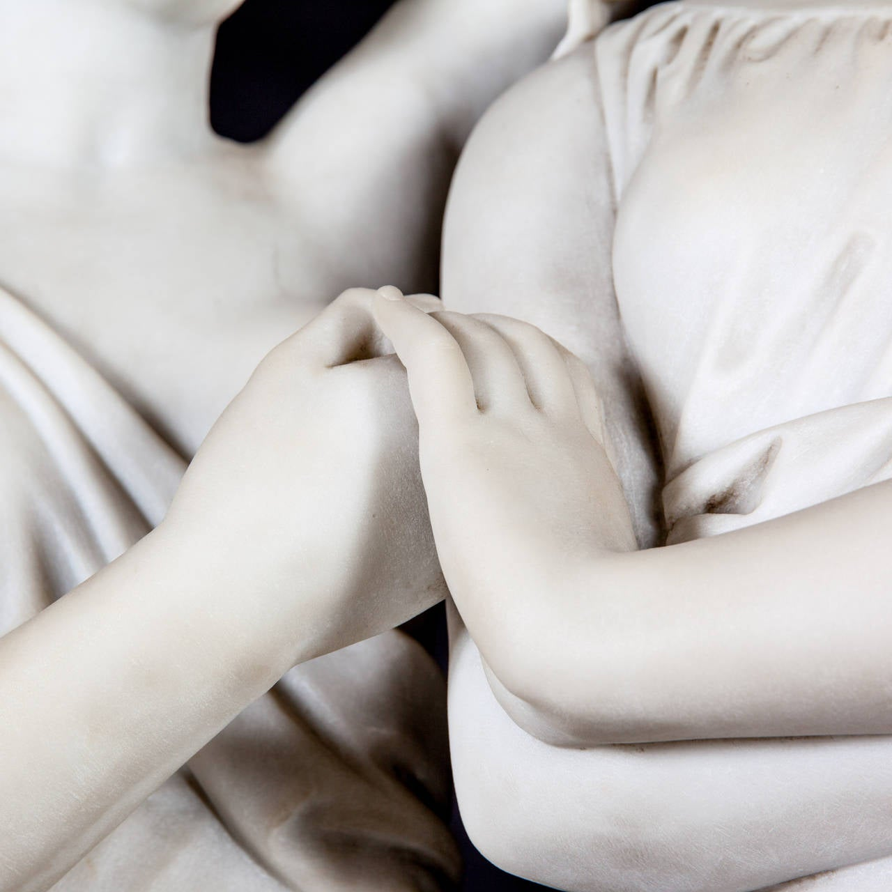 Carved Marble Sculpture of the Three Graces Crowning Venus by Antonio Frilli