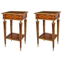 Pair of Parquetry Occasional Tables by Donald Ross