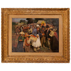 Painting of 'A Gala Day' After Sir Alfred Munnings