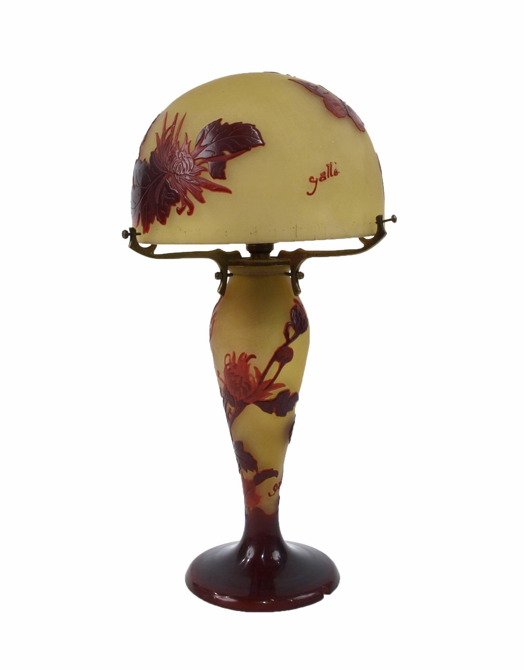 Art Nouveau Lamp by Émile Gallé