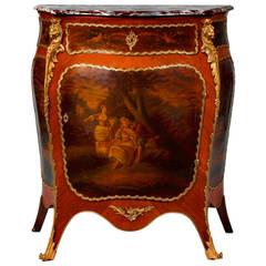 Louis XV Style Ormolu-Mounted Kingwood Vernis Martin Side Cabinet