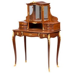 Ormolu-Mounted Mahogany Bonheur Du Jour by Guillaume Grohe