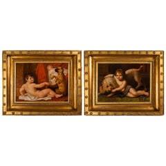 Pair of Paintings by Antoine Dubost