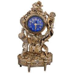 Very Fine Silver Gilt Carriage Clock by Ernest Evrot