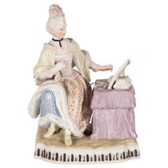 Meissen Porcelain Figural Group Emblematic of the Visual Sense